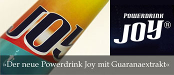 Der neue Joy Powerdrink mit Guaranaextrakt